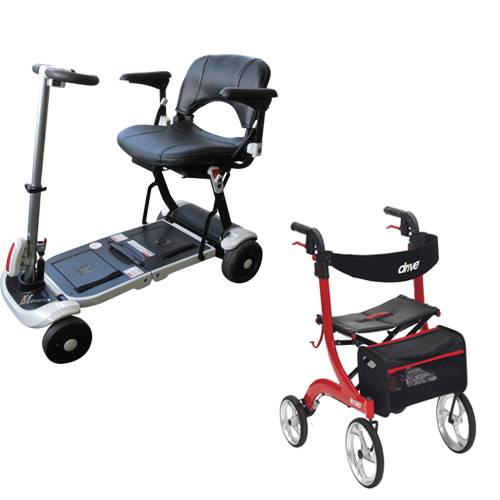 Mobility scooters, roller skates, walkers for the elderly